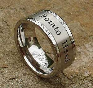 personalised titanium wedding ring online in the uk With titanium wedding rings uk