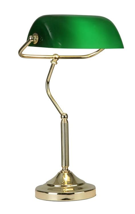 Oaks Bankers Desk Lamp Polished Brass   TL 180 PB   Oaks