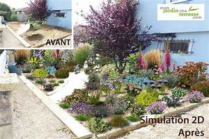Faire Un Parterre De Galets : cr er un massif jardin l anglaise monjardin ~ Dailycaller-alerts.com Idées de Décoration