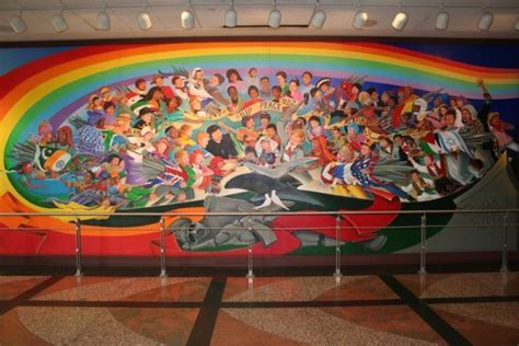 Denver International Airport Murals by Strait Is The Gate Narrow Is The Way Denver