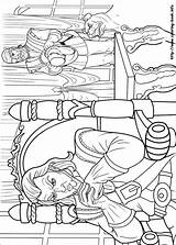 Coloring Musketeers Barbie Three Printable Colouring sketch template