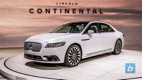 Pictures Of New Lincoln Continental by 2017 Lincoln Continental 2016 Naias 1