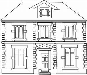 coloriage maisons les beaux dessins de meilleurs dessins With dessin de maison facile