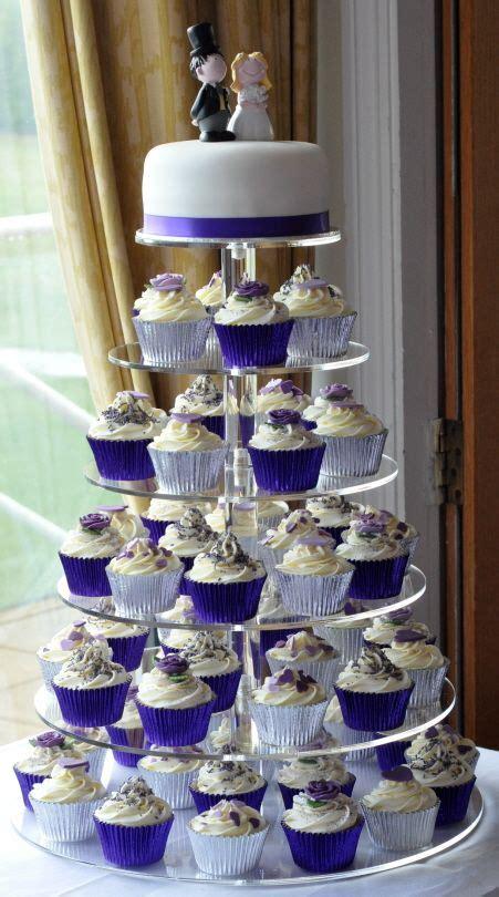 purple wedding cupcake tower  brampton golf club vow