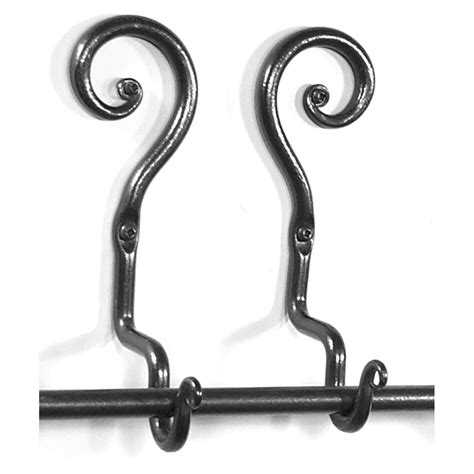 curl curtain rod holder up wrought iron home accessories