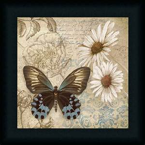 butterfly garden i boho chic butterfly framed art print With butterfly wall decor