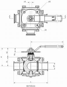 507f  Multi-port 3  4  5-way Sanitary Ball Valve  1  2 U0026quot