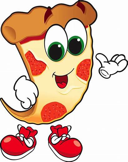 Pizza Animated Cartoon Slice Clipart Guy Animation