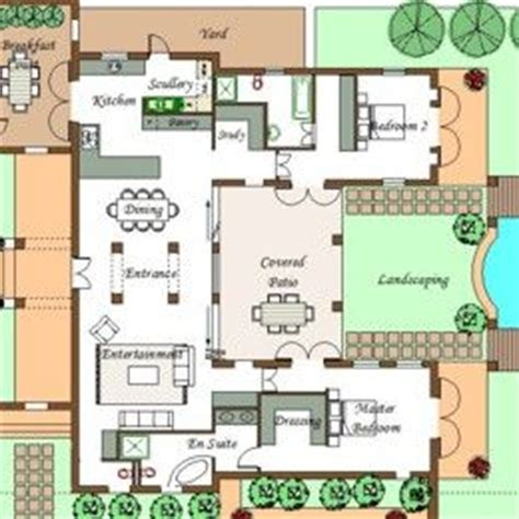 typical  shaped house plan pool house plans house layout plans courtyard house plans
