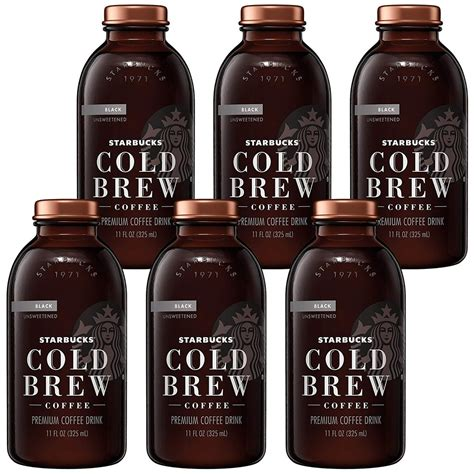 Especially in the summer months, many consumers are passing up the traditional hot cup of joe for a. Starbucks Cold Brew Coffee, Black Unsweetened, 11 oz Glass Bottles, 6 Count | Shopee Malaysia