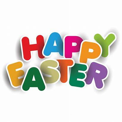 Easter Happy Clipart Text Transparent Elements Typography