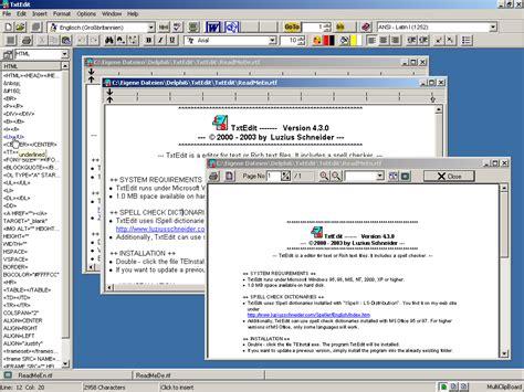 screenshot text editors utilities schneider