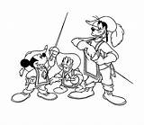 Musketeers Coloring Three Pages Mickey Mouse Musketeer Goofy Print Donald Coloringpages1001 Disney Popular sketch template