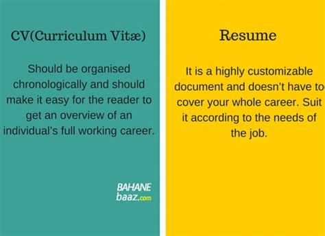 difference between cv and resume official excuses