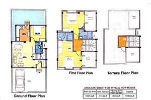 home blueprint design row house floor plans india home design home building plans 45626