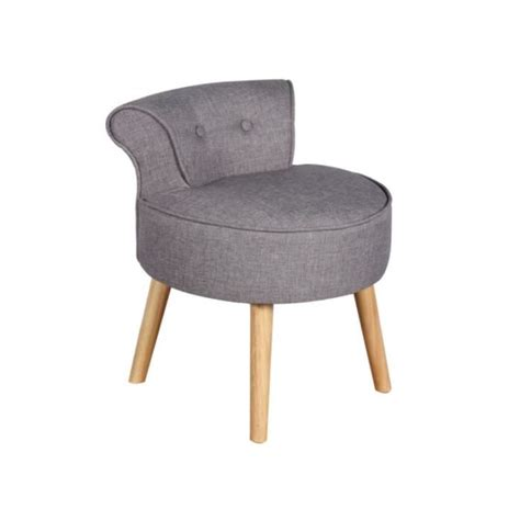 chaise crapaud petit fauteuil crapaud savea en tissu gris chiné achat