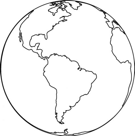 earth outline globe earth outline black and white clipart best
