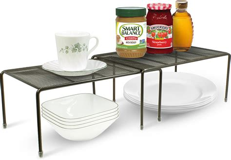 stacking shelves for kitchen cabinets pantry cabinet organizers features stackable shelves made 8216