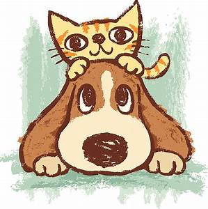 Royalty Free Cat And Dog Together Clip Art, Vector Images ...
