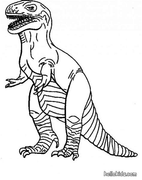 Allosaurus Kleurplaat by Tyrannosaurus Coloring Pages Hellokids