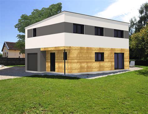 maison cubique bardage bois et cr 233 pis nos projets maison cubique