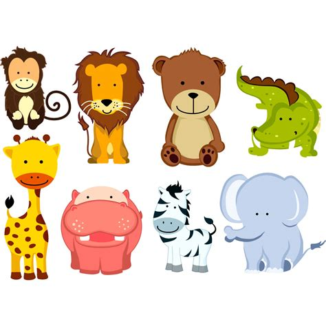 stickers muraux animaux de la jungle sticker 8 animaux de la jungle stickers animaux animaux d afrique ambiance sticker