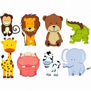 Stickers Animaux De La Jungle : sticker 8 animaux de la jungle stickers animaux animaux d 39 afrique ambiance sticker ~ Mglfilm.com Idées de Décoration