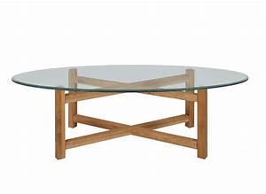 Table Basse Ovale Blanche : table de salon ovale en verre table basse blanche design trendsetter ~ Teatrodelosmanantiales.com Idées de Décoration