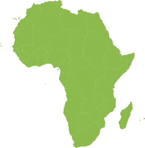 african green african continent green clip art at clker com vector