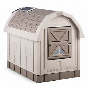 Dog palace insulated dog house the green head for Insulated dog houses for winter