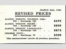 EXTRA VINTAGE Cars 1920`s prices