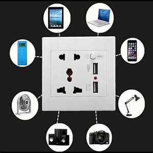 Goulotte Electrique Avec Prise : achetez prise mural universelle avec 2 ports de recharge rapide usb au meilleur prix au maroc ~ Mglfilm.com Idées de Décoration