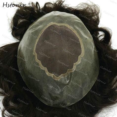 top hair wig hair piece mono lace thin skin mens