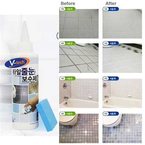 Bathroom Tile Grout Repair Products by V Tech Tile Reform Coating Grout Tiling 200g Repair Kit