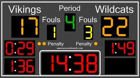 Handball Scoreboard Software  Turn Your Computer Into A