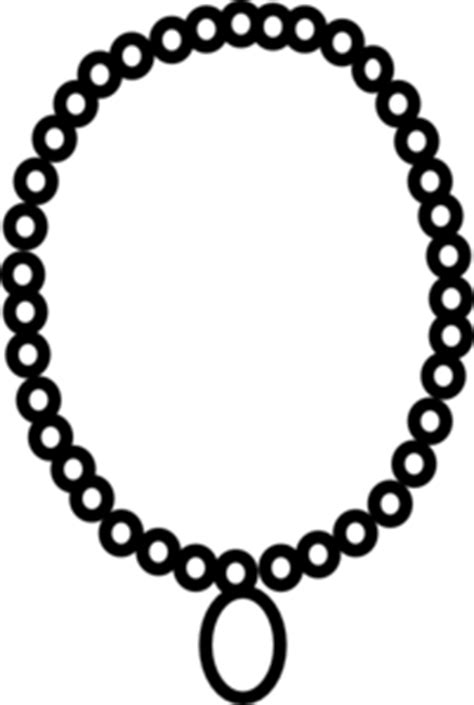 pearl necklace clipart black and white necklace outline clip at clker vector clip