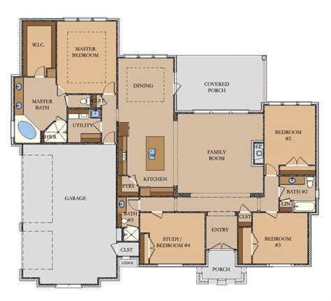 Home Builder Floor Plans by 2602 Sq Ft Llano Jeff Watson Homes Builder