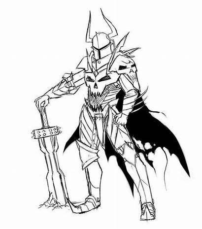 Knight Medieval Drawing Coloring Knights Drawings Pages