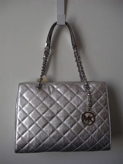 michael kors quilted bag michael kors susannah large quilted leather silver