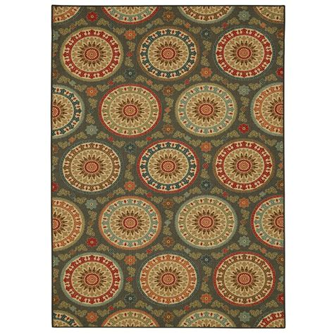 mohawk medallion rug mohawk home amias medallion gray 7 ft 6in x 10 ft area