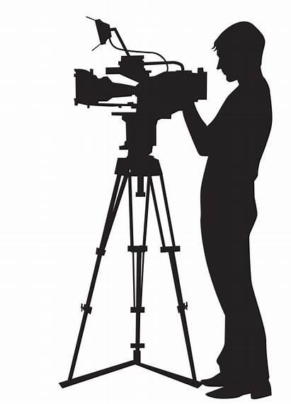 Camera Clipart Videographer Clip Silhouette Transparent Operator