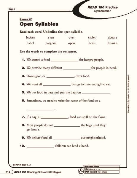 open syllable worksheets photos dropwin