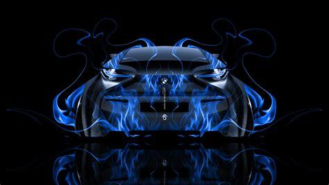 bmw   fire abstract car  el tony
