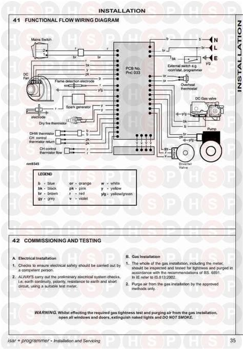 ideal isar he30 functional flow wiring diagram diagram heating spare parts
