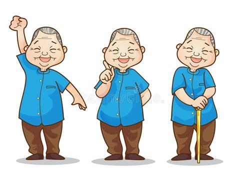 Old Man Benign Stock Vector. Illustration Of Standing