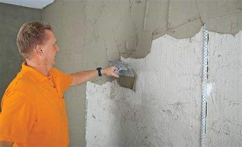 Wände Glatt Verputzen by Hochwertige Baustoffe Verputzte Wand Saubern