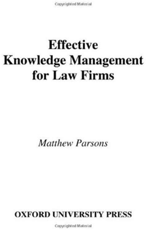 LAW FIRM KNOWLEDGE MANAGEMENT : LAW FIRM - BANKRUPTCY