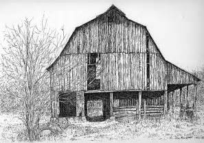 Pen and Ink Barn Drawings