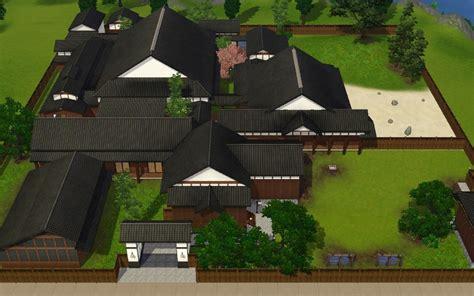 housing blueprints mod the sims japanese style house quot asakura yakata quot