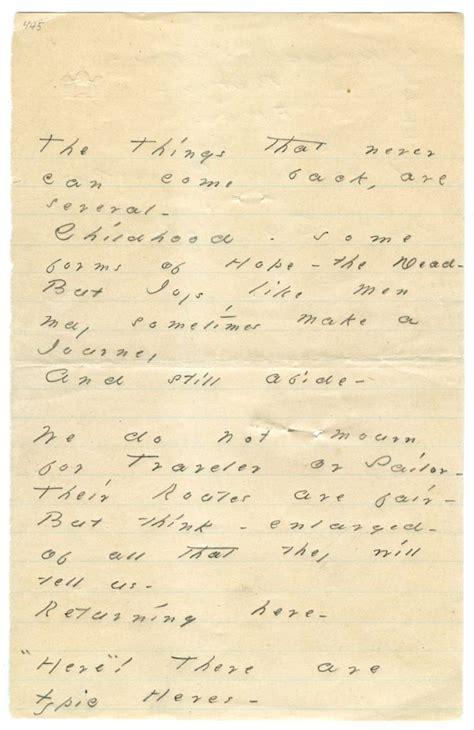 emily dickinsons handwritten coconut cake recipe hints